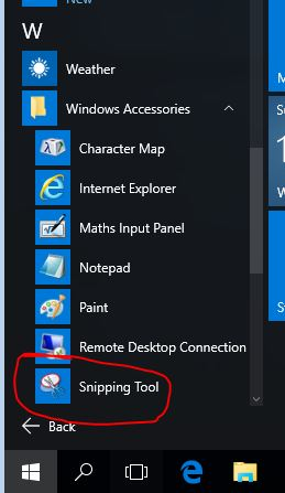 snipping tool  windows10
